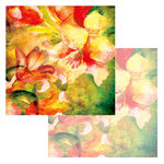 Ken Oliver - Watercolor Florals Collection - 12 x 12 Double Sided Paper - Watercolor Tulips