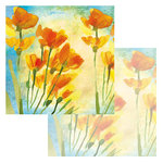 Ken Oliver - Watercolor Florals Collection - 12 x 12 Double Sided Paper - Watercolor Freesia