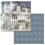 Ken Oliver - Hometown Cottage Collection - 12 x 12 Double Sided Paper - Picket Fence