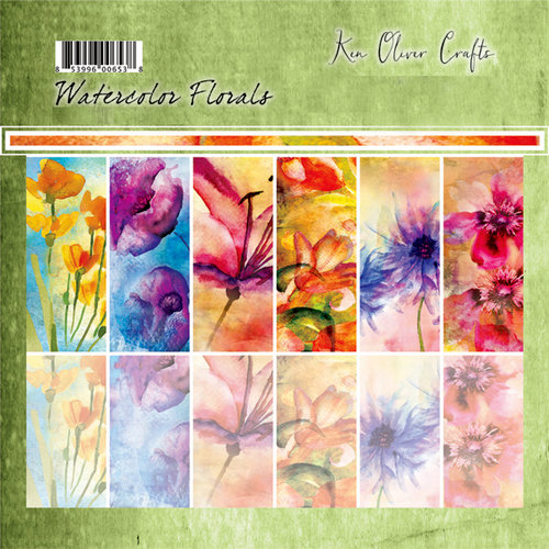 Ken Oliver - Watercolor Florals Collection - 6 x 6 Collection Pack