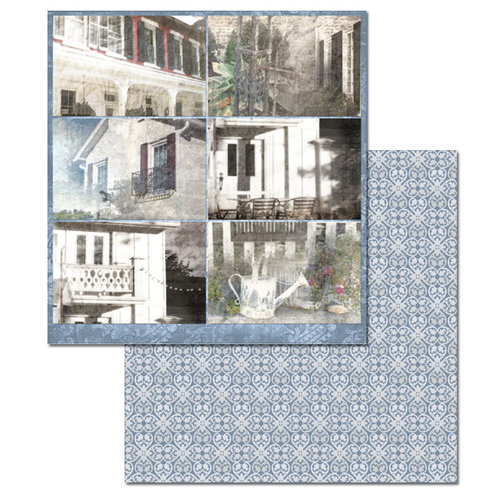 Ken Oliver - Hometown Cottage Collection - 12 x 12 Double Sided Paper - Journaling Cards