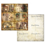 Ken Oliver - Hometown Christmas Collection - 12 x 12 Double Sided Paper - Christmas Greetings