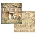 Ken Oliver - Hometown Christmas Collection - 12 x 12 Double Sided Paper - Yuletide Manor