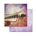 Ken Oliver - Covered Bridges Collection - 12 x 12 Double Sided Paper - Mill Creek