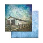 Ken Oliver - Covered Bridges Collection - 12 x 12 Double Sided Paper - Lancaster Bridge