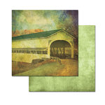 Ken Oliver - Covered Bridges Collection - 12 x 12 Double Sided Paper - Hickory Creek