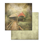 Ken Oliver - Covered Bridges Collection - 12 x 12 Double Sided Paper - Cedar Grove