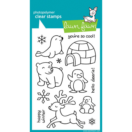 Lawn Fawn - Clear Acrylic Stamps - Critters in the Snow