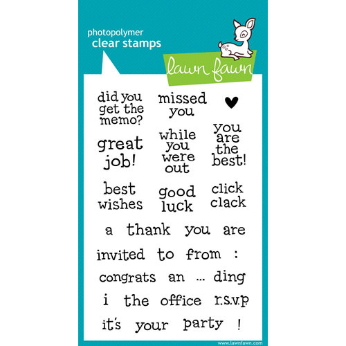 Lawn Fawn - Clear Acrylic Stamps - Just My Type, Too