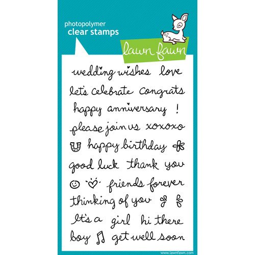 Lawn Fawn - Clear Acrylic Stamps - Sophie's Sentiments