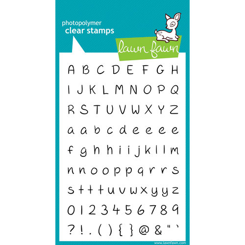 Lawn Fawn - Clear Acrylic Stamps - Jessie's ABCs