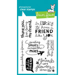 Lawn Fawn - Clear Acrylic Stamps - Hello Friend