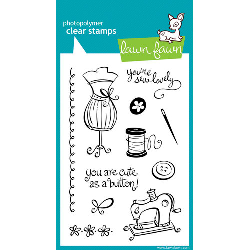 Lawn Fawn - Clear Acrylic Stamps - Sew Lovely