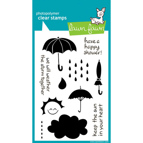 Lawn Fawn - Clear Acrylic Stamps - Partly Cloudy