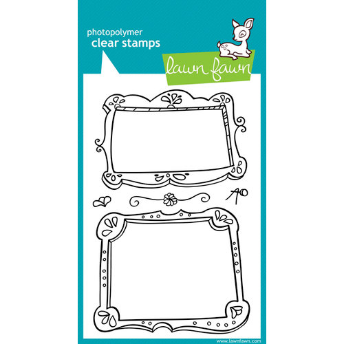 Lawn Fawn - Clear Acrylic Stamps - Fanciful Frames