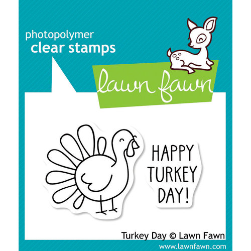 Lawn Fawn - Clear Acrylic Stamps - Turkey Day