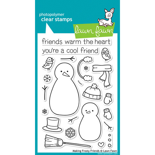 Lawn Fawn - Clear Photopolymer Stamps - Making Frosty Friends