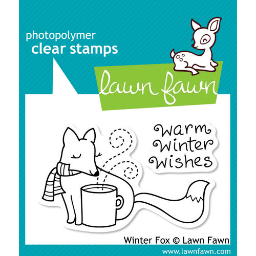 Lawn Fawn - Clear Acrylic Stamps - Winter Fox