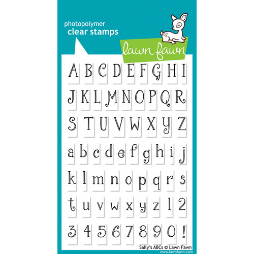 Lawn Fawn - Clear Acrylic Stamps - Sally's ABCs