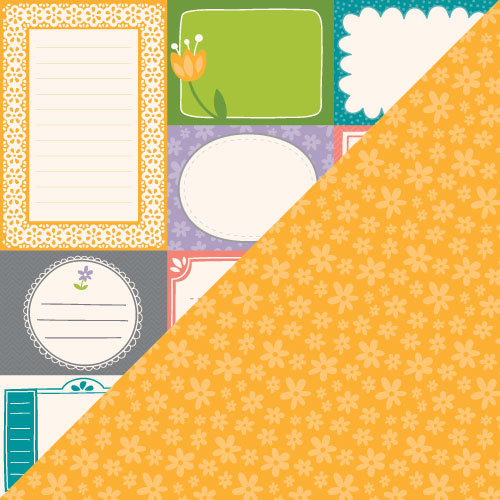 Lawn Fawn - Bright Side Collection - 12 x 12 Double Sided Paper - Happy Thoughts