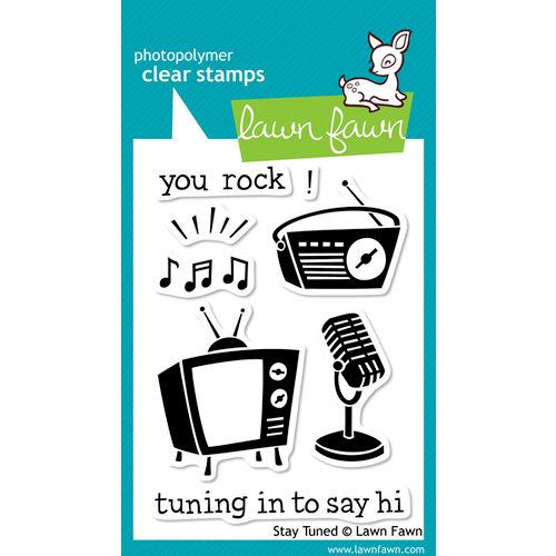 Lawn Fawn - Clear Acrylic Stamps - Stay Tuned