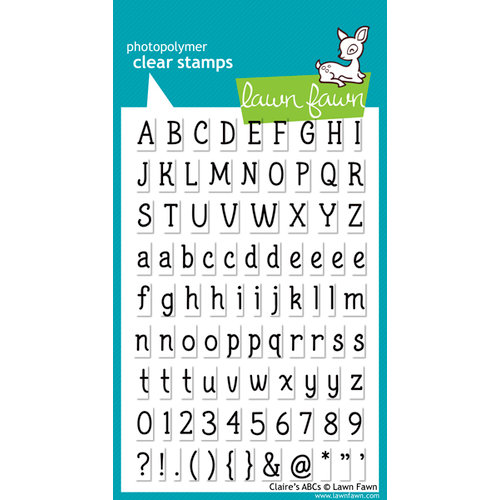 Lawn Fawn - Clear Acrylic Stamps - Claire's ABCs