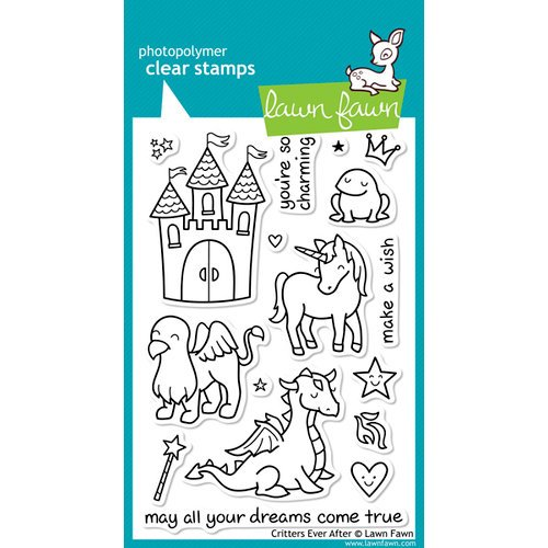Lawn Fawn - Clear Acrylic Stamps - Critters Ever After