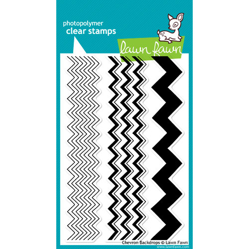 Lawn Fawn - Clear Acrylic Stamps - Chevron Backdrops