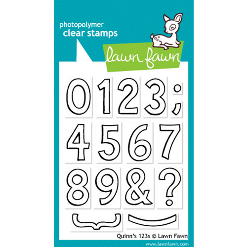 Lawn Fawn - Clear Acrylic Stamps - Quinn's 123s