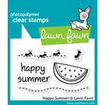 Lawn Fawn - Clear Acrylic Stamps - Happy Summer