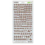 Lawn Fawn - Dewey Decimal Collection - Cardstock Stickers - Alphabet - Narrators - Acorn Brown