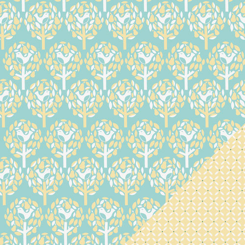 Lawn Fawn - Fa-La-La Collection - Christmas - 12 x 12 Double Sided Paper - In A Pear Tree