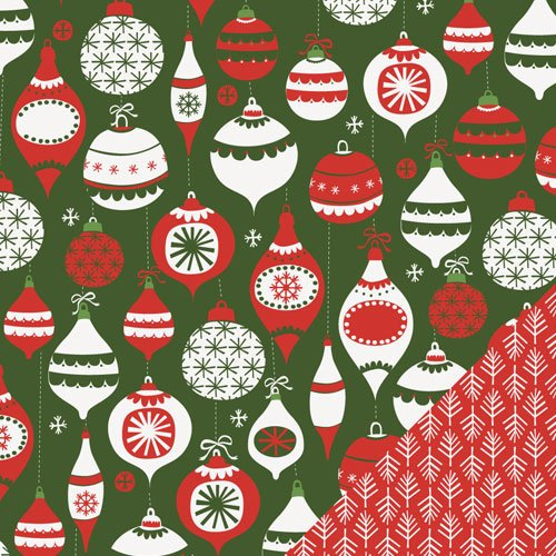 Lawn Fawn - Fa-La-La Collection - Christmas - 12 x 12 Double Sided Paper - Deck The Halls