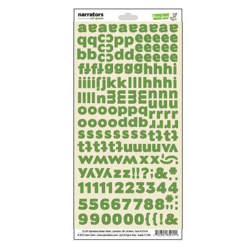 Lawn Fawn - Fa-La-La Collection - Christmas - Cardstock Stickers - Alphabet - Narrators - Elf Green