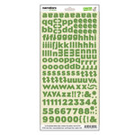 Lawn Fawn - Fa-La-La Collection - Christmas - Cardstock Stickers - Alphabet - Narrators - Elf Green