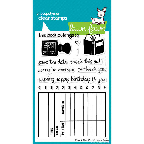 Lawn Fawn - Clear Acrylic Stamps - Check This Out
