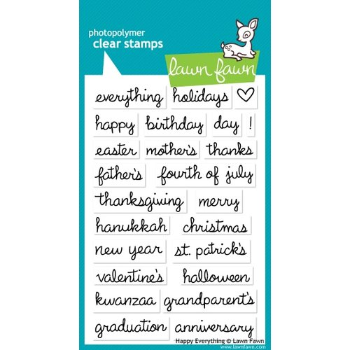 Lawn Fawn - Clear Acrylic Stamps - Happy Everything