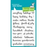 Lawn Fawn - Clear Photopolymer Stamps - Happy Everything
