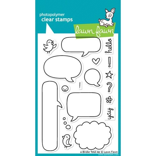 Lawn Fawn - Clear Acrylic Stamps - A Birdie Told Me