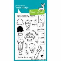 Lawn Fawn - Clear Photopolymer Stamps - Here's the Scoop