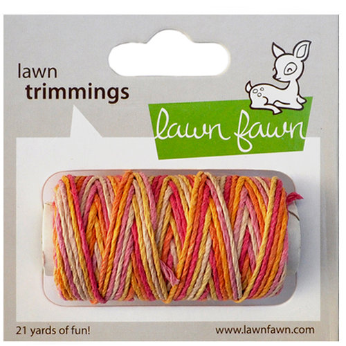 Lawn Fawn - Lawn Trimmings - Bakers Twine Spool - Pink Lemonade