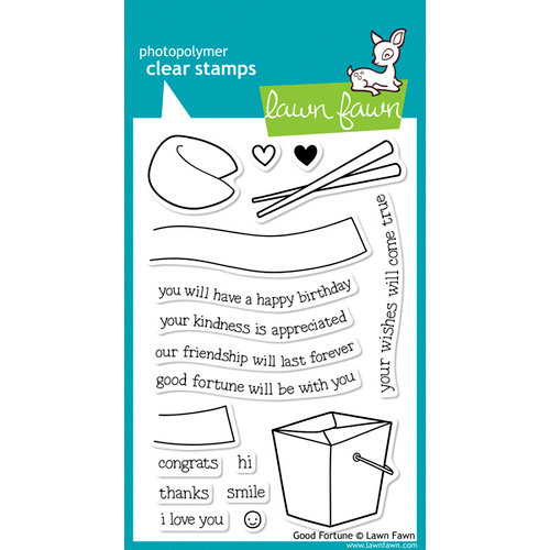 Lawn Fawn - Clear Acrylic Stamps - Good Fortune