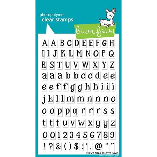 Lawn Fawn - Clear Acrylic Stamps - Rileys ABCs