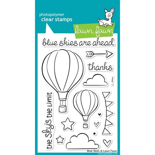 Lawn Fawn - Clear Photopolymer Stamps - Blue Skies