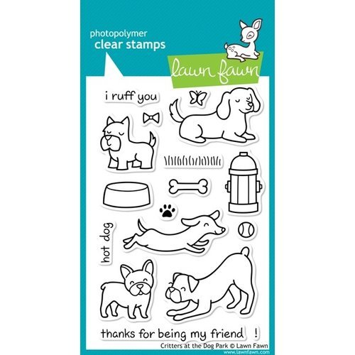 Lawn Fawn - Clear Photopolymer Stamps - Critters at the Dog Park