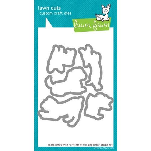 Lawn Fawn - Lawn Cuts - Die Cutting Template - Critters at the Dog Park