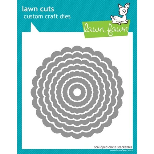 Lawn Fawn - Lawn Cuts - Dies - Scalloped Circle Stackables
