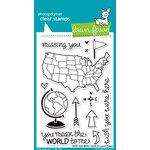 Lawn Fawn - Clear Acrylic Stamps - Wish You Were Here