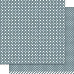 Lawn Fawn - Lets Polka Collection - 12 x 12 Double Sided Paper - Hippo Polka