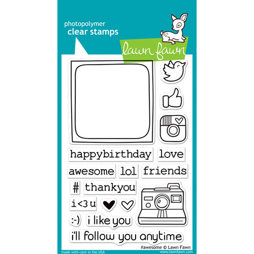 Lawn Fawn - Clear Acrylic Stamps - Hashtag Awesome